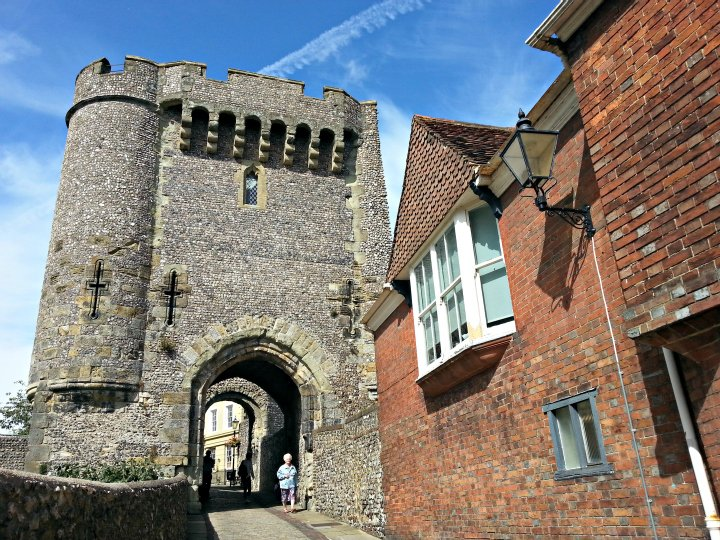 lewes castle near Brighton sussex