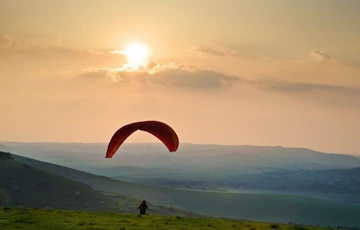 paragliding steyning sussex Brighton south downs