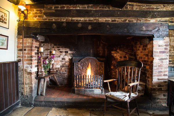 Pubs with real fires in and near Steyning
