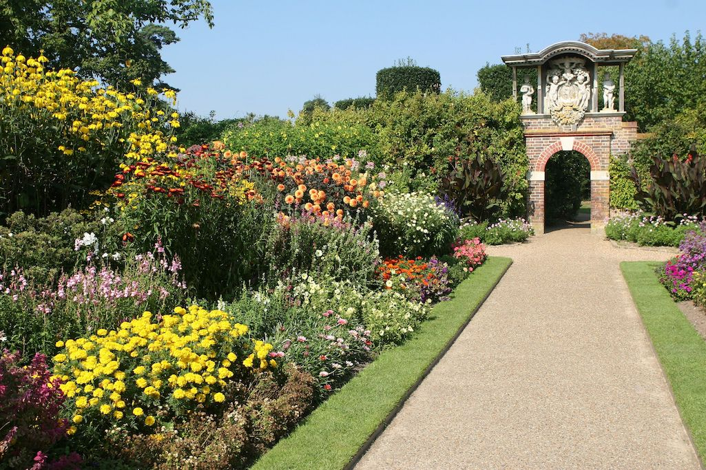 the herbaceous borders in nyman's gardens.